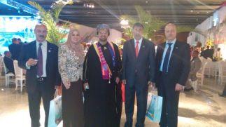 Sra Sohair El Qatta, Dr. Khalid Said, Sr. Ibrahim Alzeden e Amigos Diplomatas