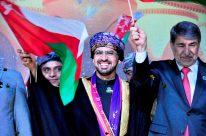S.E.Dr. Khalid Said Salem Aljaradi, Embaixador do Sultanato de Omã, e o Embaixador da Palestina, Sr. Ibrahim Alzeben