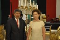 S.E. Sr. Embaixados da Palestina, Ibrahim Alzeben e Ministra do Itamaraty