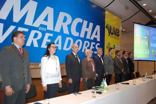 Autoridades marcam presença na abertura da Marcha dos Vereadores 2016