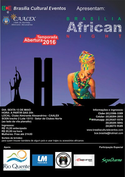 Brasília African Night no Clube Almirante Alexandrino
