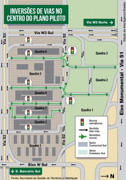 Trânsito no Setor Comercial Sul será modificado - Agência Brasília