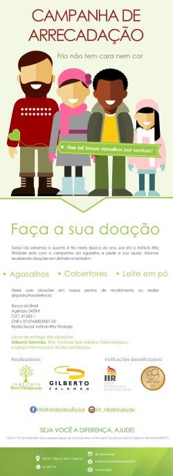 Instituto Rita Trindade promove Campanha do Agasalho