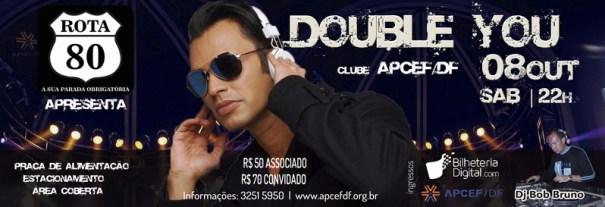 """Festa """"Rota 80"""" com show do Double You na Apcef"""