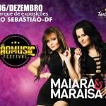 Maiara e Maraisa apresentam-se no São Music Festival em São Sebastião/DF