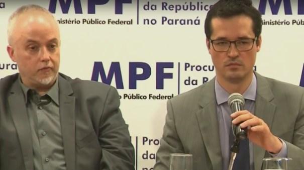 Corrupção. Procuradores da Lava-jato leem nota em repúdio a projeto aprovado na Câmara - Foto: Reprodução/GloboNews