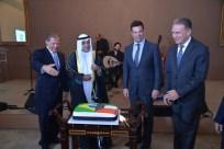 Embaixador do Estado de Kuwait, S.E. Sr. Ayadah M. Alsaidi, Embaixador do Líbano, S.E. Sr. Joseph Sayah, Ministro dos Esportes, Sr. Leonardo Picciani, Embaixador do Egito para a América do Sul, S.E. Sr. Alaa Roushady
