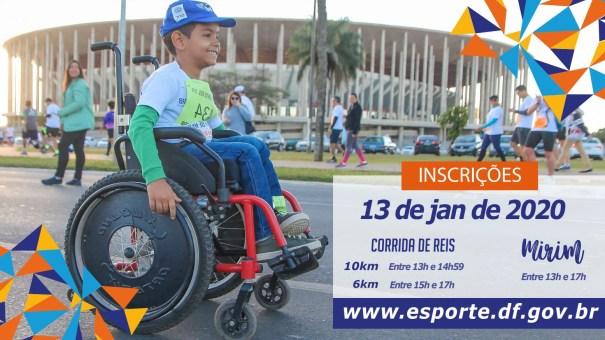 Corrida de Reis - Inscrições - Foto: Secretaria de Esporte e Lazer/GDF