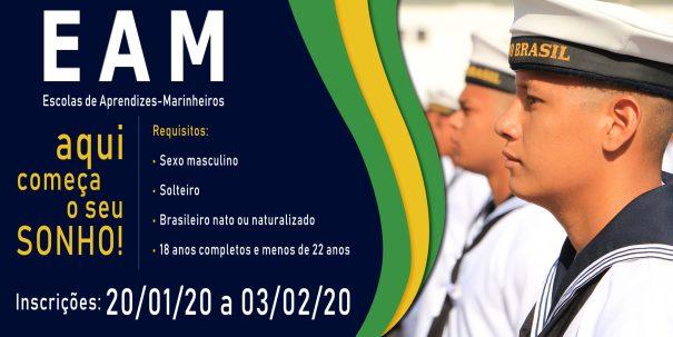 Marinha do Brasil abre 966 vagas para níveis médio e superior
