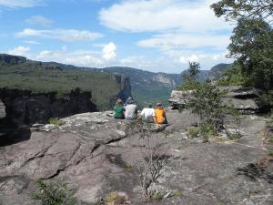 Contemplando a vista do Cachoeirão. Foto: Arquivo Pessoal