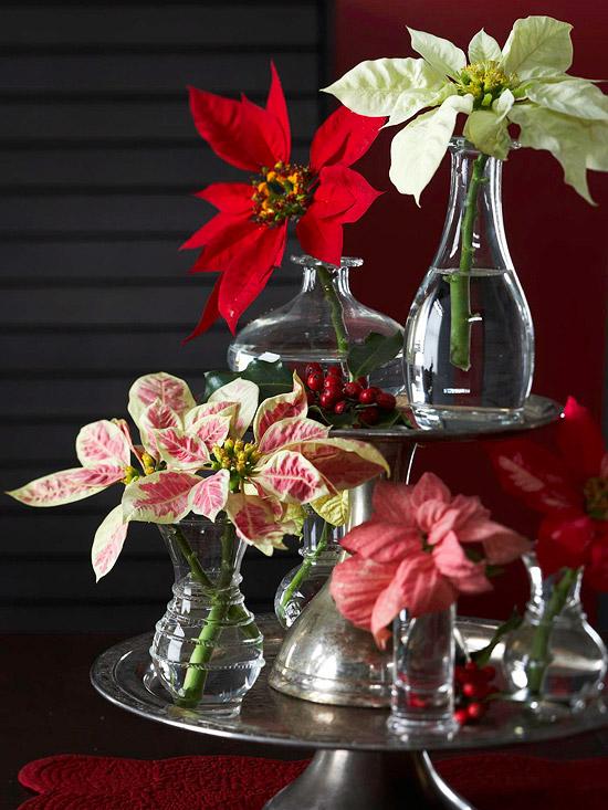 9 idee per realizzare centrotavola floreali in occasione for Centros navidenos