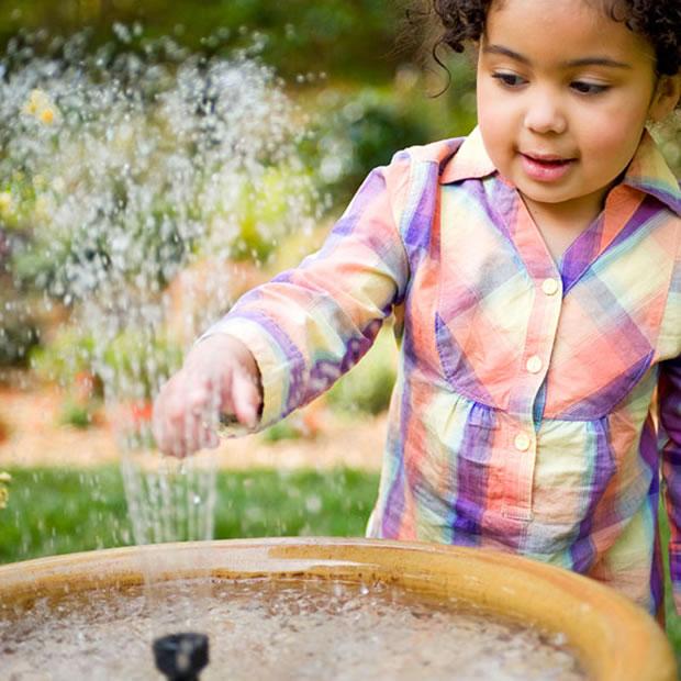realizzare una fontana nel giardino