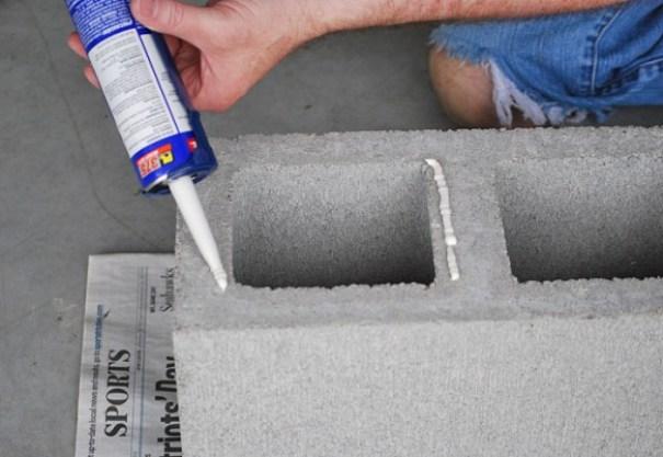 realizzare una fioriera verticale con mattoni in cemento