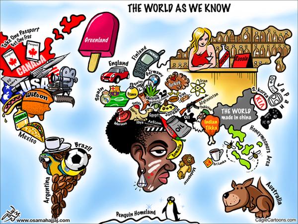 Colección de mapamundis muy peculiares - the-world-as-we-know1