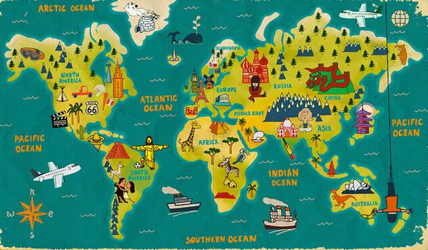 Colección de mapamundis muy peculiares