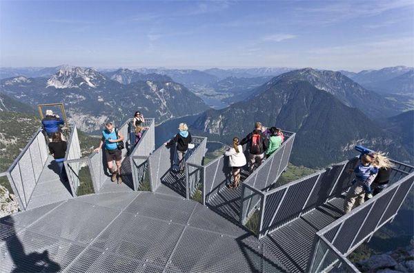 Impresionante mirador en los Alpes Austriacos