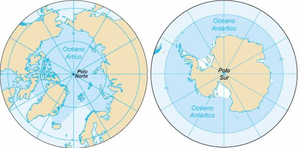 Diferencias entre el Polo Norte y el Polo Sur