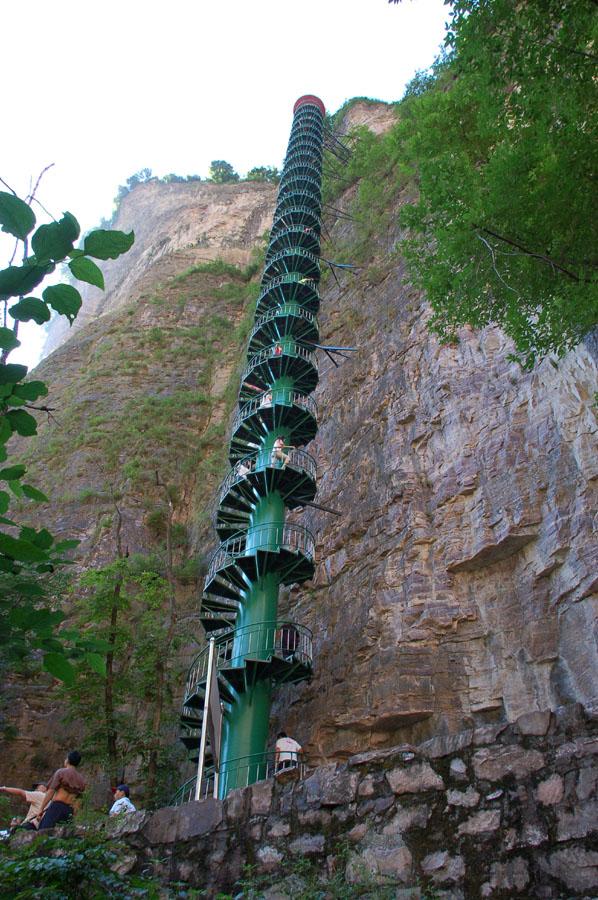 Las escaleras hacia el cielo están en China - escaleradef11