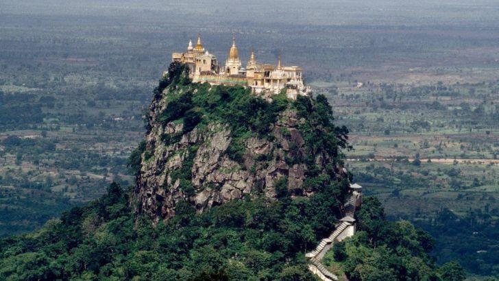 El monte Popa: la residencia de 37 espíritus