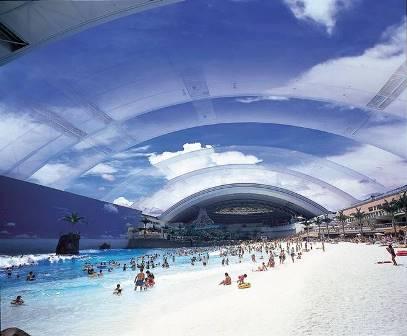 Ocean Dome, la playa artificial más grande del mundo