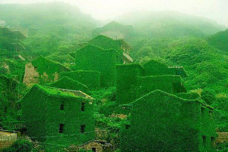 El pueblo verde de Zhoushan (China).