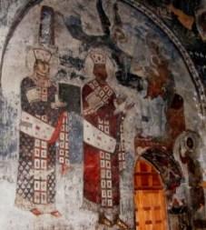 Vardzia (Georgia) - Rey-George-y-Reina-Tamara-en-la-iglesia-de-La-Asunción-269x300