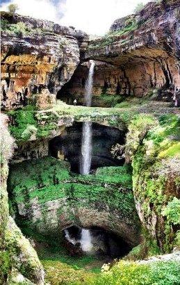 La triple cascada de Baatara