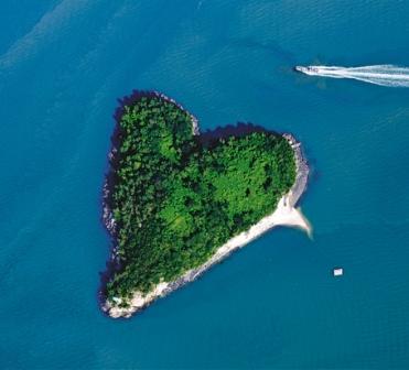 Día de los enamorados: viajes a la isla del corazón