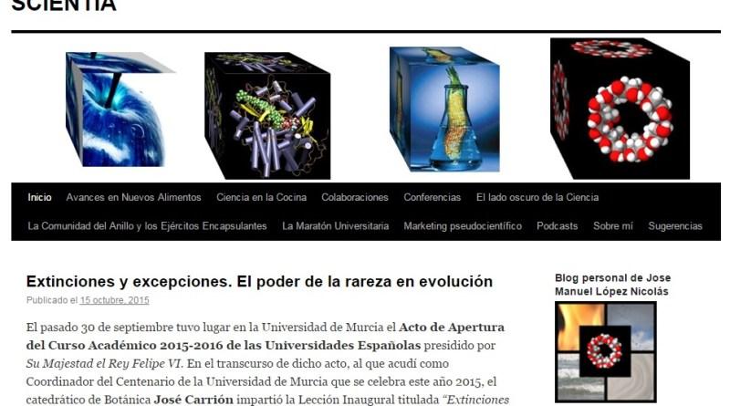 Otros blogs - SCIENTIA. El blog de Manuel López Nicolás. Sobre ciencia de la alimentación.