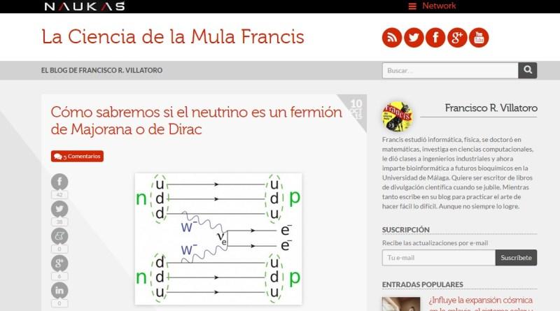 Otros blogs -LA MULA FRANCIS. Dedicado a la física teórica.