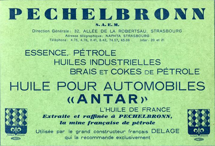 Mina de Petróleo de Riutort - Publicidad de aceite de motor extraído de la mina de Pechelbronn (1933). (2)