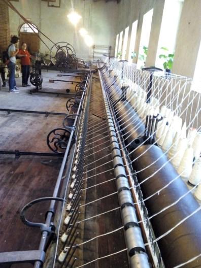 La Fábrica de Lana - La Mule-Jenny vista desde el otro extremo.