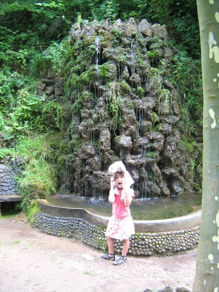 Los Jardines Artigas - Cascada con agua fluyendo