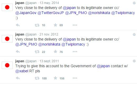 El Limpiabotas del Café Central - Tuits originales de Javier en el TL de @japon, tratando de entregar la cuenta.