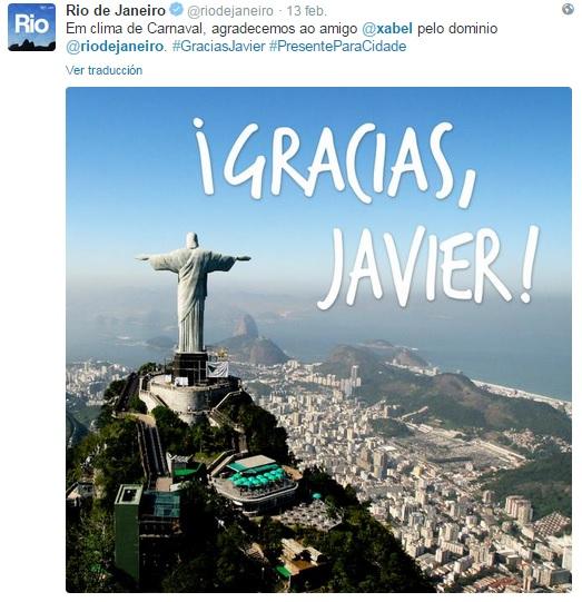 El Limpiabotas del Café Central - ¡Gracias, Javier! de parte de 8 millones de habitantes de Río.