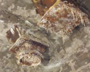 """Museo del Cemento Asland - Formación de pequeñas """"estalactitas"""" de cal"""
