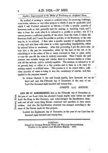Museo del Cemento Asland - Patente de Joseph Aspden (5)
