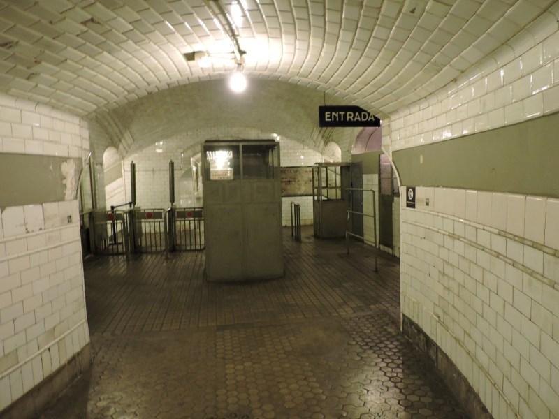 Estación Fantasma de Chamberí - Zona de taquillas