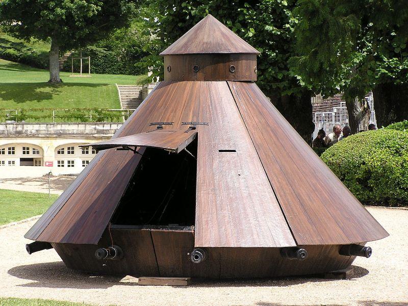 Museo de Carros de Combate - Carro acorazado propuesto por Galileo (2)