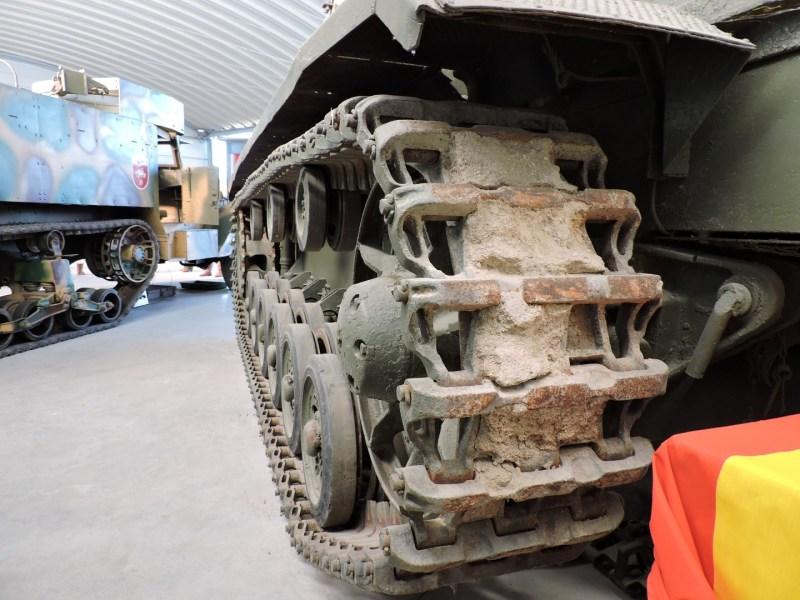 Museo de Carros de Combate - Cadena de eslabones metálicos del STUG III