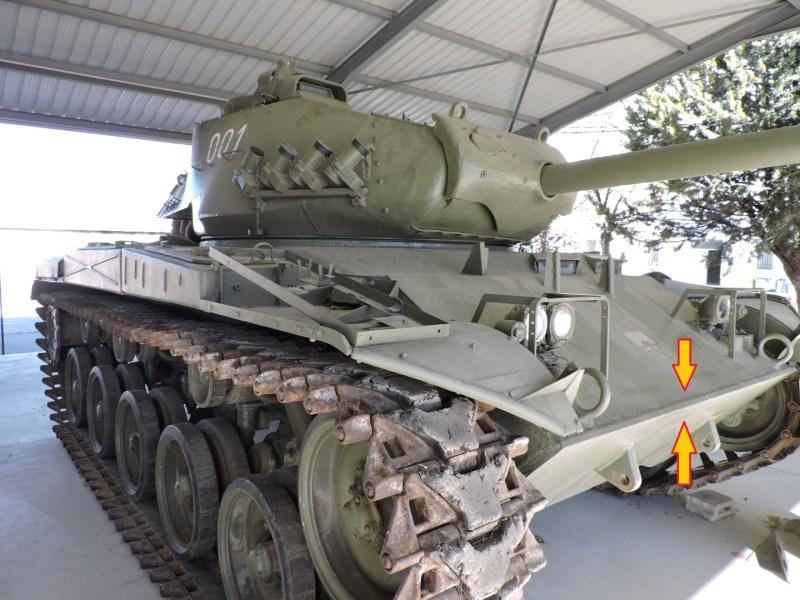 Museo de Carros de Combate - Blindaje de 32 mm del tanque americano M-41 A1
