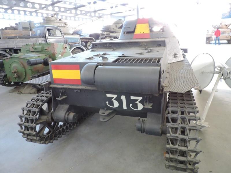 Museo de Carros de Combate - Panzer I B - trasera