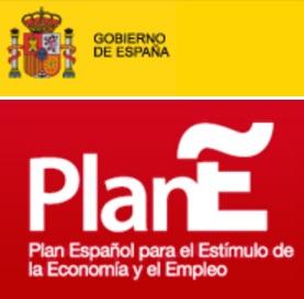 Faro de Moncloa - Logo del Plan-E