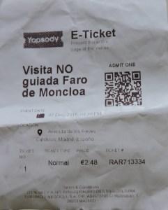 Faro de Moncloa - Entrada al Faro