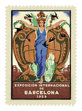 Museo de la Aviación - Sello conmemorativo de la Exposición de Barcelona 1929 (11)