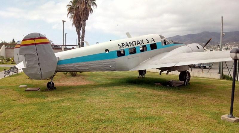 Museo de la Aviación - Beechcraft 18, que la compañía Spantax utilizó para traslado de tripulaciones.
