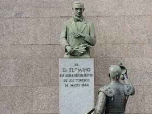 Fleming - Fleming con un libro y la rama de laurel