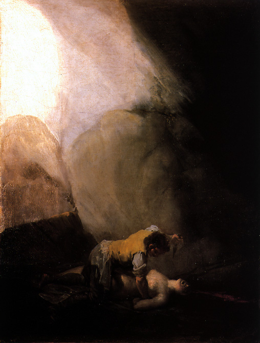 Museo de la Guardia Civil - Trilogía de Goya sobre la realidad de los bandoleros: Bandidos fusilando a prisioneros, Bandido desnudando a una mujer y Bandido asesinando a una mujer (6)