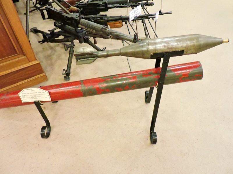 Museo de la Guardia Civil - Lanzador de granadas Jotake, intervenido al comando de ETA Goierri (Imagen propiedad del Museo de la Guardia Civil)