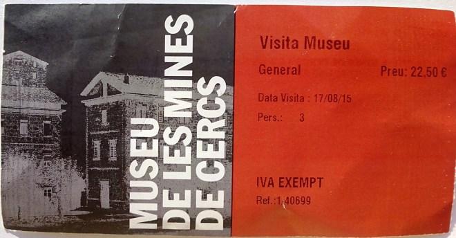 Museo Minas Serchs - Entrada al Museo de las Minas de Serchs